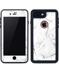 White Marble iPhone 7 Plus Waterproof Case