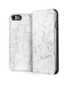 White Marble iPhone 8 Folio Case