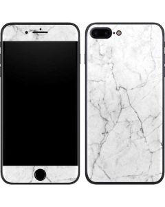 White Marble iPhone 8 Plus Skin