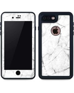 White Marble iPhone 8 Plus Waterproof Case