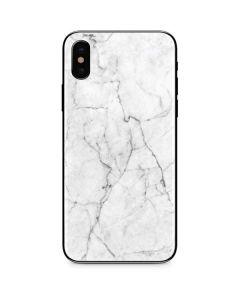 White Marble iPhone X Skin