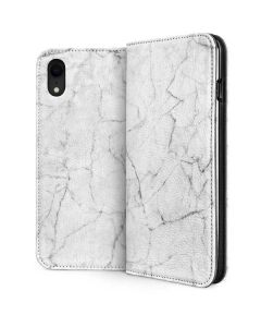 White Marble iPhone XR Folio Case