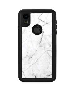 White Marble iPhone XR Waterproof Case