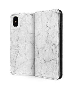 White Marble iPhone XS Folio Case