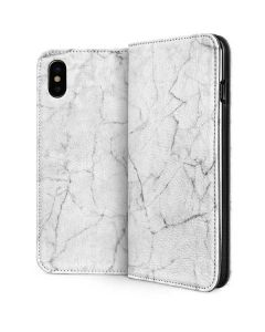 White Marble iPhone XS Max Folio Case