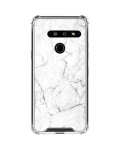 White Marble LG G8 ThinQ Clear Case