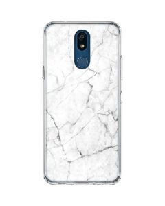 White Marble LG K30 Clear Case