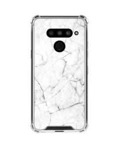 White Marble LG V50 ThinQ Clear Case