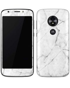 White Marble Moto E5 Play Skin