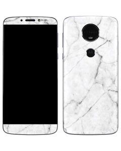 White Marble Moto E5 Plus Skin