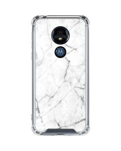 White Marble Moto G7 Power Clear Case
