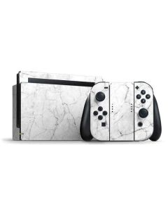 White Marble Nintendo Switch Bundle Skin