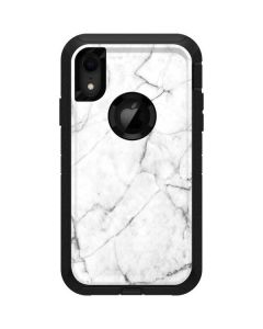 White Marble Otterbox Defender iPhone Skin
