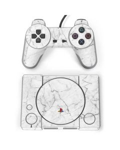 White Marble PlayStation Classic Bundle Skin