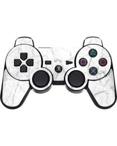 White Marble PS3 Dual Shock wireless controller Skin