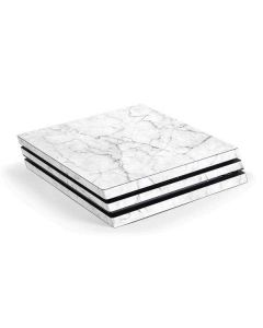 White Marble PS4 Pro Console Skin