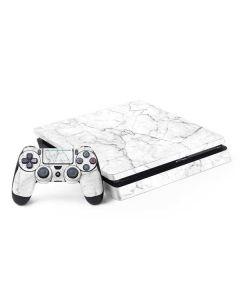 White Marble PS4 Slim Bundle Skin