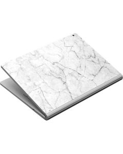 White Marble Surface Book Skin