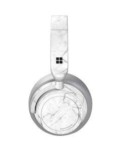 White Marble Surface Headphones Skin