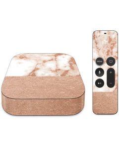 White Rose Gold Marble Apple TV Skin