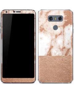 White Rose Gold Marble LG G6 Skin