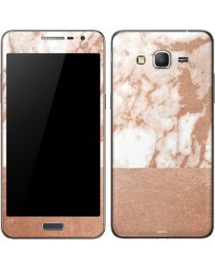 White Rose Gold Marble Galaxy Grand Prime Skin