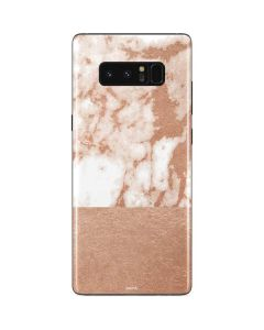 White Rose Gold Marble Galaxy Note 8 Skin