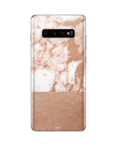 White Rose Gold Marble Galaxy S10 Plus Skin