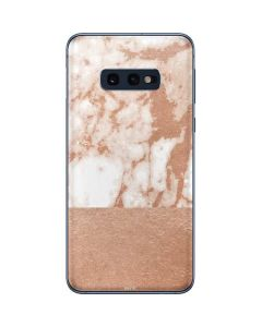 White Rose Gold Marble Galaxy S10e Skin