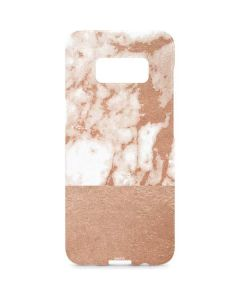 White Rose Gold Marble Galaxy S8 Plus Lite Case