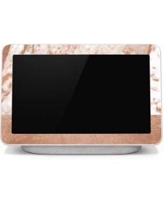 White Rose Gold Marble Google Home Hub Skin