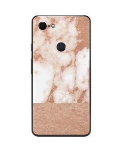 White Rose Gold Marble Google Pixel 3 XL Skin