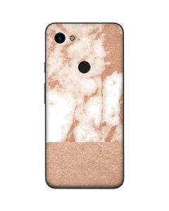 White Rose Gold Marble Google Pixel 3a Skin