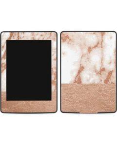 White Rose Gold Marble Amazon Kindle Skin