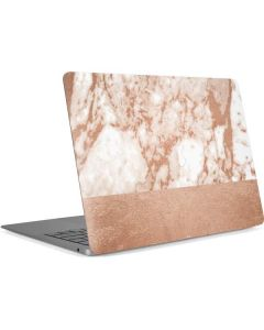 White Rose Gold Marble Apple MacBook Air Skin