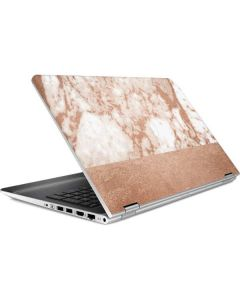 White Rose Gold Marble HP Pavilion Skin
