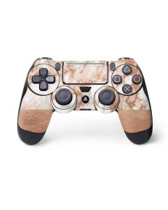 White Rose Gold Marble PS4 Pro/Slim Controller Skin