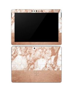 White Rose Gold Marble Surface Go Skin