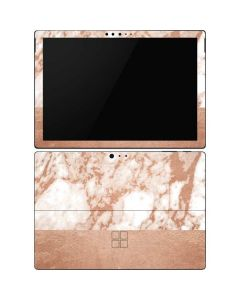 White Rose Gold Marble Surface Pro 6 Skin