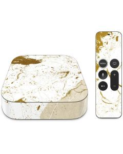 White Scattered Marble Apple TV Skin