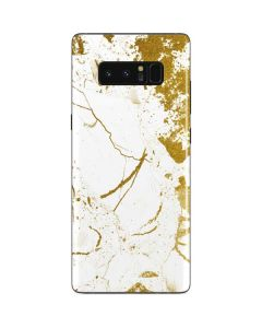 White Scattered Marble Galaxy Note 8 Skin