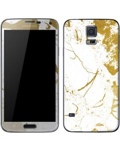 White Scattered Marble Galaxy S5 Skin
