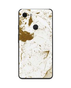 White Scattered Marble Google Pixel 3 XL Skin