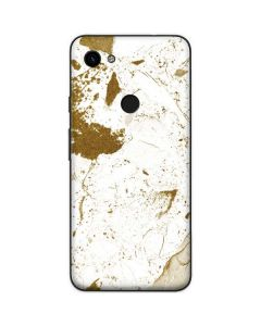 White Scattered Marble Google Pixel 3a Skin