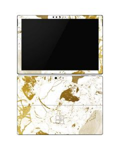White Scattered Marble Surface Pro 6 Skin