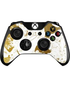 White Scattered Marble Xbox One Controller Skin
