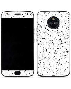 White Speckle Moto X4 Skin