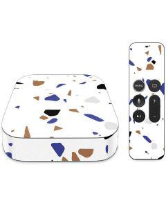 White Terrazzo Apple TV Skin