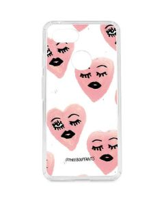 Winking Hearts Google Pixel 3 Clear Case