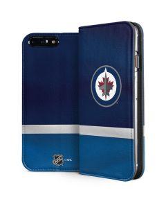 Winnipeg Jets Alternate Jersey iPhone 8 Plus Folio Case